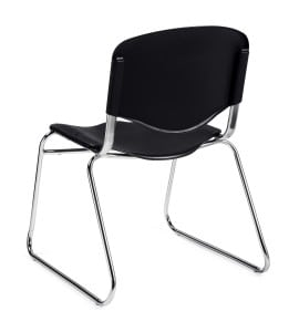 black stackable chair