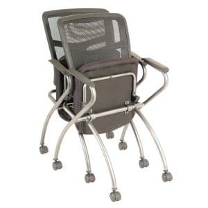 Mesh Back Nesting Chair - Guest, Training, etc...
