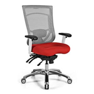 Mesh Back Office Chair - Red