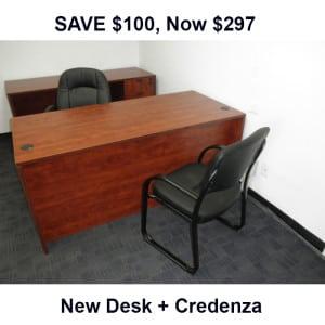 Spec Buy Desk + Credenza
