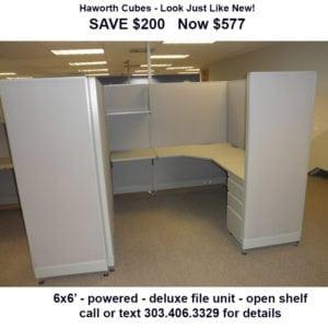 used 6x6 haworth cubicles - like new