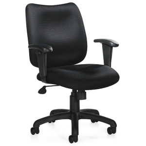 Black Fabric Tilt Task Chair Denver Metro