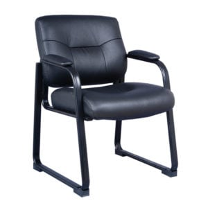 Guest Chair Black Leather - Denver Metro