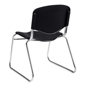 Plastic Stacking Chair - Black
