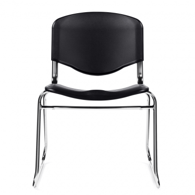 Plastic Stacking Chair in Black Denver Metro