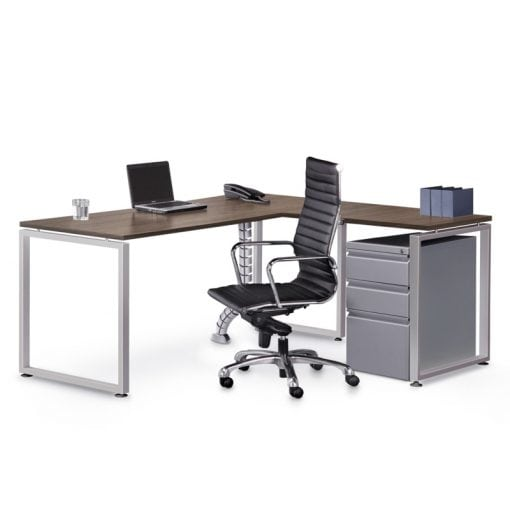Corner Desk with File