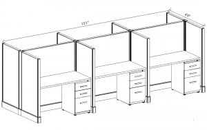 2x4 back to back cubicles