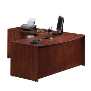 Exec Bow Front L Desk, Deluxe File