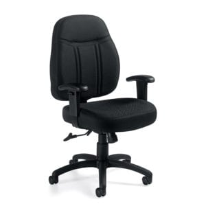Black Fabric Office Task Chair