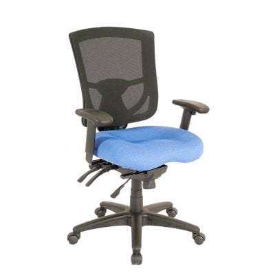 Padded Office Chair in Red or Blue