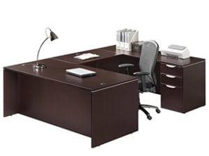 Executive U Shaped Desk with Files