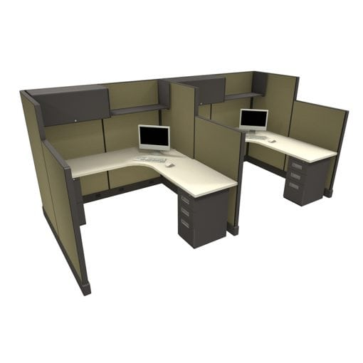 6x6' Remanufactured Hi-Low Used Cubicles