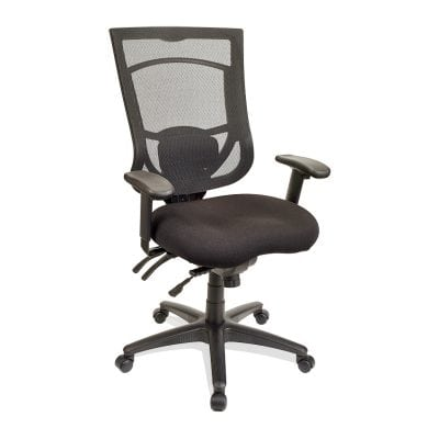 Adjustable High Back Office Chair Available in Blue, Green, Orange, and Red