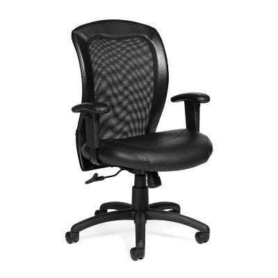 Black Adjustable Ergonomic Mesh Back Chair - Denver Metro