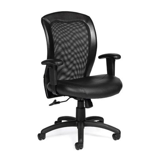 Black Adjustable Ergonomic Mesh Back Chair - Denver Metro