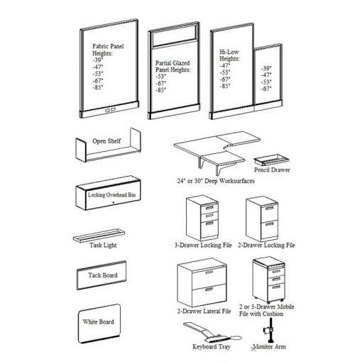U-DESIGN-IT CUBE COMPONENTS