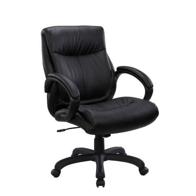Mid Back Plush Conference Office Chair Black Denver Metro