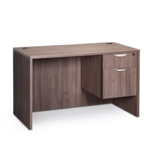 small wooden desk 2 drawer file with locking drawer
