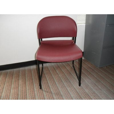 Plastic Stacker Chair Red