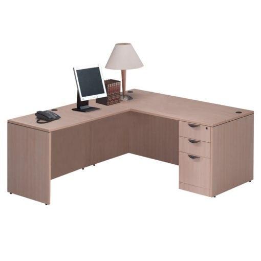 Standard L Desk, Deluxe File