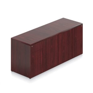 Veneer Storage Credenza Locking Files