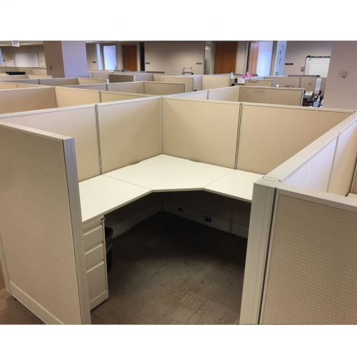 used cubicles workstations mid brown