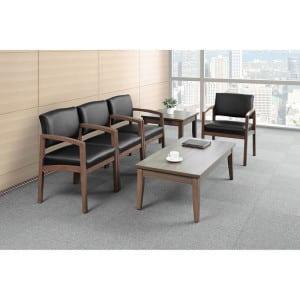 Wood Guest, Reception Chair - Walnut