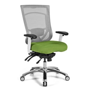 Pro Multi Function Ergonomic High Back Mesh Chair - Green