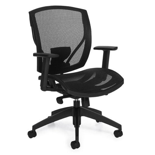 All Mesh Back and Seat Office Chair - Black