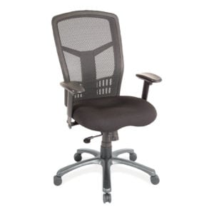 Black Padded High Back Mesh Chair with Arms