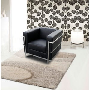 Modern Reception Chair Black Leather