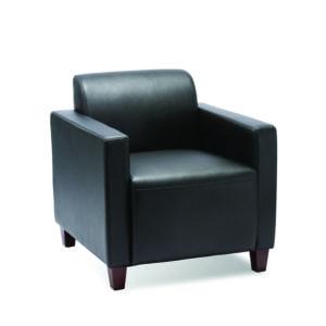 Black Budget Priced Club Chair