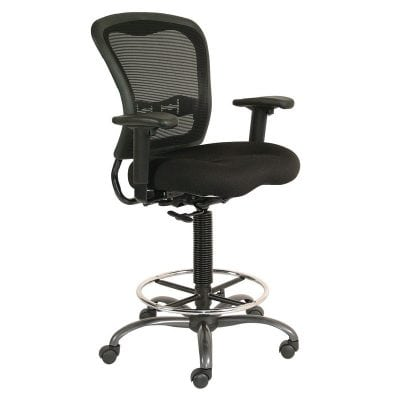 Drafting Chair Cool Mesh in Black - Denver Metro