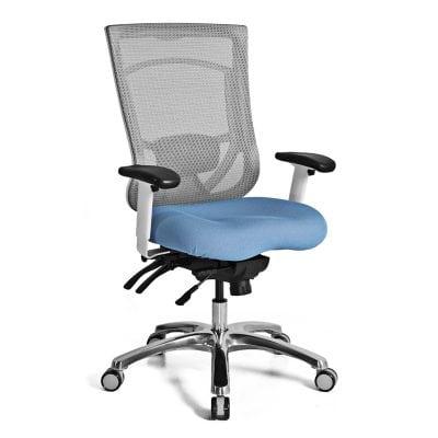 Ergonomic High Back Mesh Chair - Blue Seat