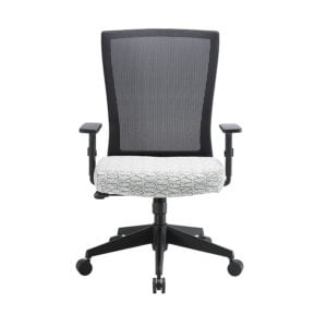 High Back Office Chair - White Swirl