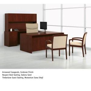 National Premium Veneer Desking Options