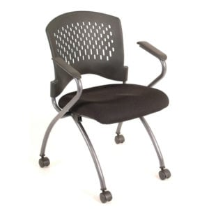 Black Plastic Back Nesting Chair