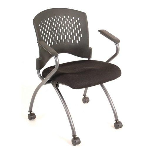Black Plastic Back Nesting Chair