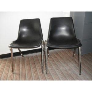Black Plastic Stacker Virco Used Office Chair Denver Metro