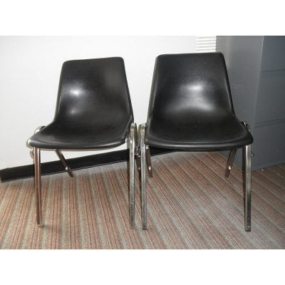 Black Plastic Stacker Virco Used Office Chair Denver Metro