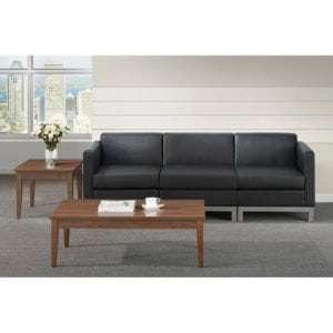Reception Couch Black - Office/Waiting Area