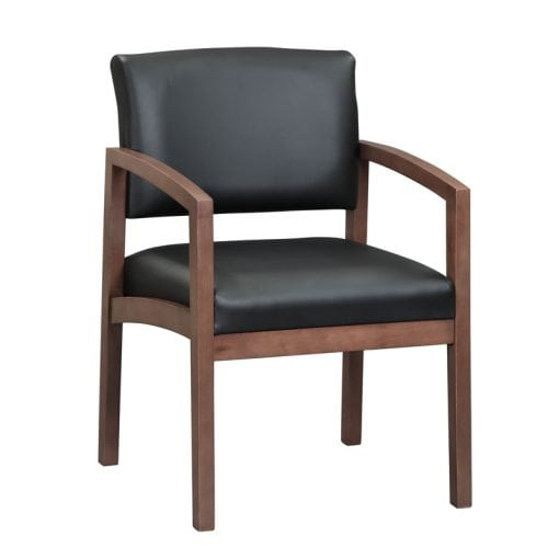 Guest Chair Wood and Leather - Denver Metro