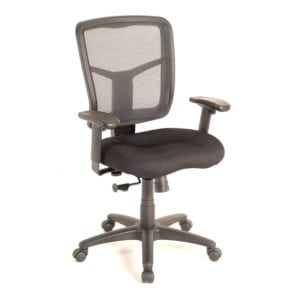 Black Manager's Chair Mesh Back With Arms
