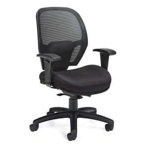 Black Weight Sensing Mesh Office Chair