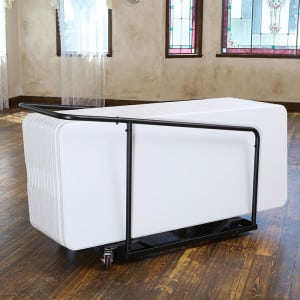 Folding Table Rolling Cart