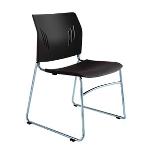 Poly Chrome Stacking Chair in Black, Blue, or Green Denver Metro