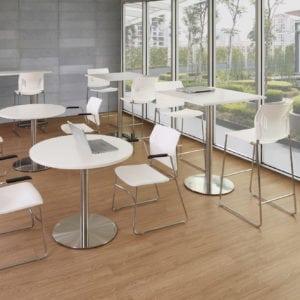 Round White Table Bistro Breakroom Restaurant