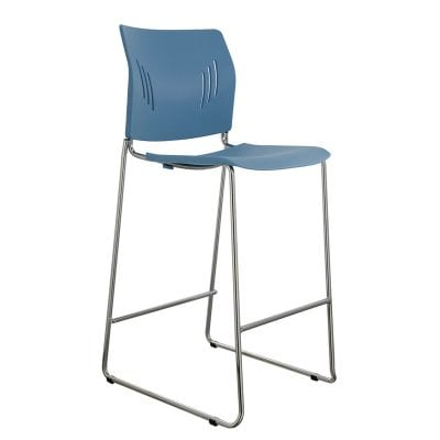 Colorful Poly Chrome Bar Stool in Green, Blue, Black, Denver Metro