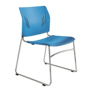 Poly Chrome Stacking Chair in Black, Blue, or Green, Denver Metro