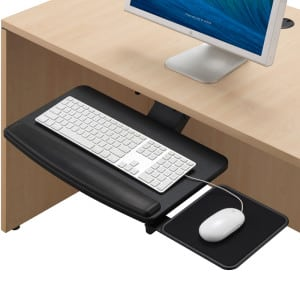 Deluxe Keyboard Tray, Adj Mouse Surface